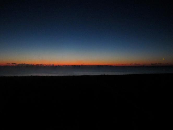 Sun rise over the Atlantic. At Echo NH retreat.